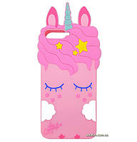 Чехол-накладка TPU 3D Little Unicorn для Huawei Y6 (2018) Pink