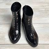 Жіночі черевики з натуральної шкіри наплак на невысокм підборах Можливий відшиваючи у інших кольорах, фото 4
