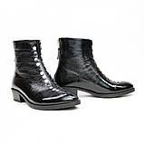 Жіночі черевики з натуральної шкіри наплак на невысокм підборах Можливий відшиваючи у інших кольорах, фото 5