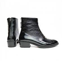 Женские ботинки из натуральной кожи наплак на невысокм каблуке Возможен отшив в других цветах