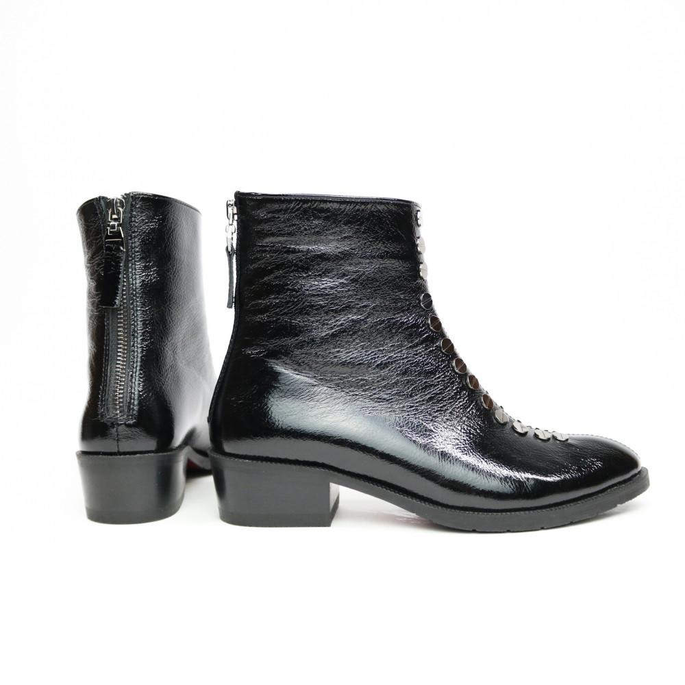 Жіночі черевики з натуральної шкіри наплак на невысокм підборах Можливий відшиваючи у інших кольорах