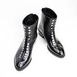 Жіночі черевики з натуральної шкіри наплак на невысокм підборах Можливий відшиваючи у інших кольорах, фото 7