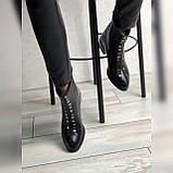 Жіночі черевики з натуральної шкіри наплак на невысокм підборах Можливий відшиваючи у інших кольорах, фото 2