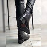 Жіночі черевики з натуральної шкіри наплак на невысокм підборах Можливий відшиваючи у інших кольорах, фото 8
