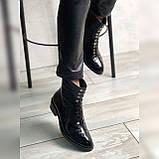 Жіночі черевики з натуральної шкіри наплак на невысокм підборах Можливий відшиваючи у інших кольорах, фото 3