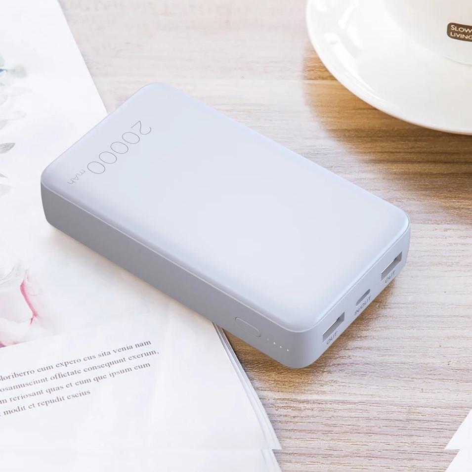 Зовнішній акумулятор Essager ES-D005 Surge Dual QC3.0 PD Power Bank 20000 mAh White (EDYPQ2-JL02)