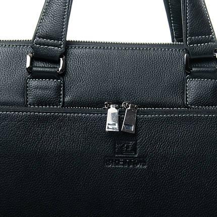 Сумка Мужская Портфель кожаный BRETTON 3627-1 black, фото 2