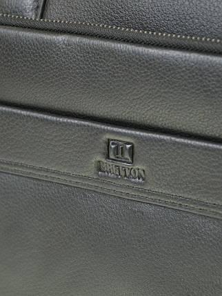 Сумка Мужская Портфель кожаный BRETTON BE 1603-1 black, фото 2