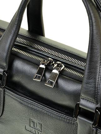 Сумка Мужская Портфель кожаный BRETTON BE 411-1 black, фото 2