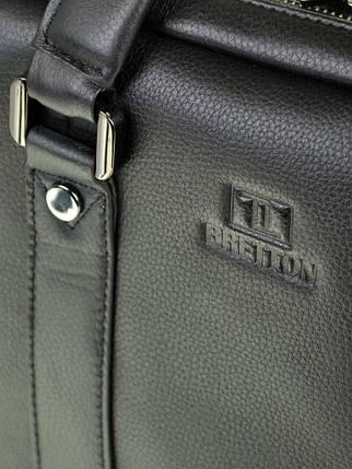 Сумка Мужская Портфель кожаный BRETTON BE 9318-2 black, фото 2