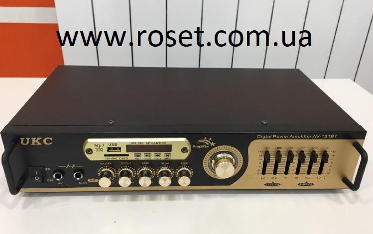 Купить Усилитель звука UKC AV-121BT Bluetooth USB + Караоке на 2 микрофона