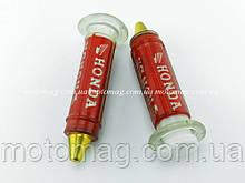 Ручки газа силиконовые Honda с отбойником, пара