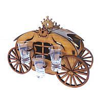 Мини-бар Карета  с рюмками   Бары для дома   Оригинальные подарки   Подставки под бутылки