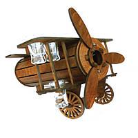 Мини-бар Самолет с рюмками | Бары для дома | Оригинальные подарки | Подставки под бутылки