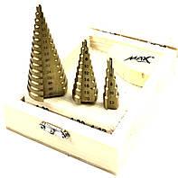 Набор ступенчатых сверл MAX от 4 до 32 мм