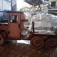 Мини-бар Машина с рюмками и бочкой   Бары для дома   Оригинальные подарки   Подставки под бутылки