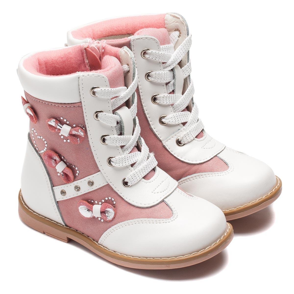 309b20061 Ботинки Шалунишка - Ортопед на девочку, белые, размер 24-29 ...