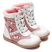 Ботинки Шалунишка - Ортопед на девочку, белые, размер 24-29