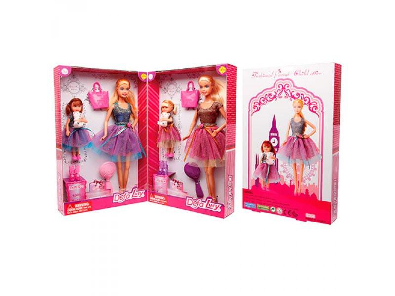 Кукла DEFA 29см с девочкой и аксессуарами, 8304