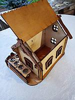 Мини-бар Домик  с рюмками   Бары для дома   Оригинальные подарки   Подставки под бутылки