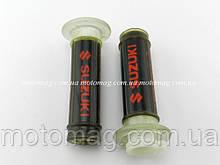 Ручки газа силиконовые Suzuki без отбойника, пара