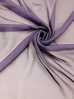 Ткань Шифон однотонный Серо-Фиолетовый (ш 150 см) для блузок, юбок, бальных танцев, вечерних платьев