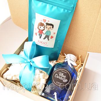 Подарочный набор LoveCocoaBox Blue Curacao