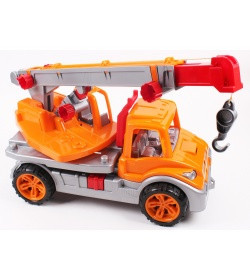 Машина Автокран оранжевая, ТМ Технок, 3695