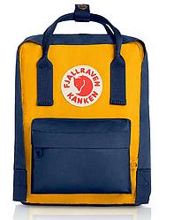 Шведский рюкзак Fjallraven Kanken™ Classic 16л, унисекс, разные цвета Желто-синий