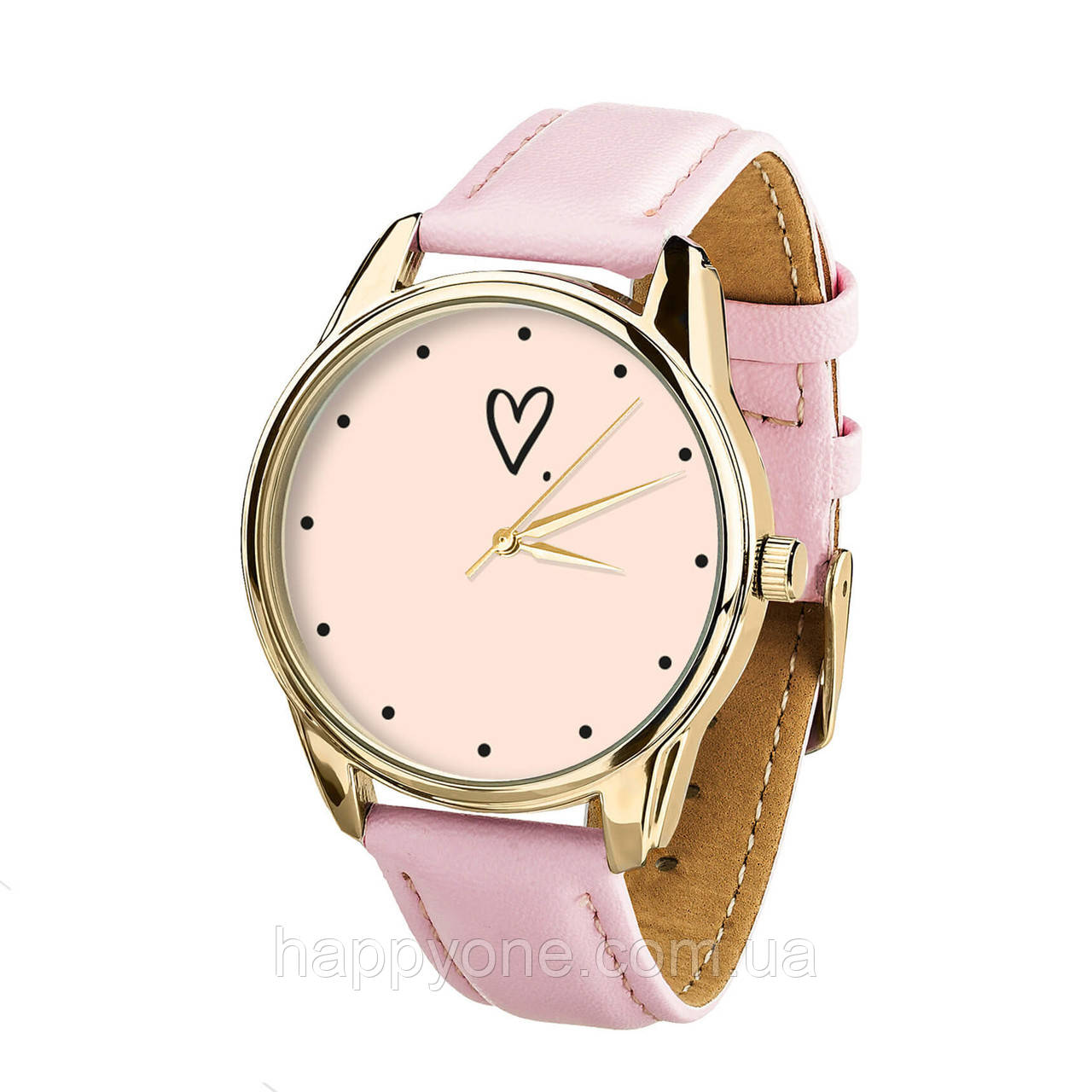 """Часы наручные """"Сердечко"""" (розовый) + дополнительный ремешок"""