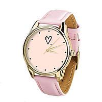 """Часы наручные """"Сердечко"""" (розовый) + дополнительный ремешок, фото 1"""