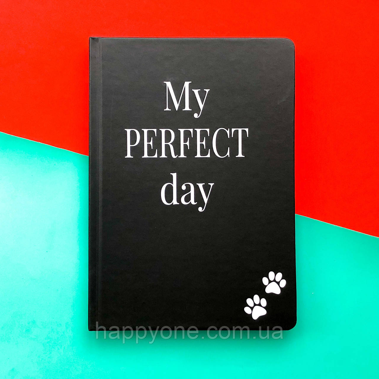 Недатированный дневник Diary My perfect day черный (украинский язык)