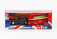 Набор транспорта Welly, автобус и лондонское такси , металл, 2 машинки, 43616-2TB