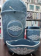 Велюровая корзина, для ванной комнаты, синий цвет,  Miss Bella, Турция
