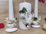 Набор свадебных свечей Monogram. Цвет белый., фото 3
