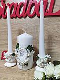 Набор свадебных свечей Monogram. Цвет белый., фото 2