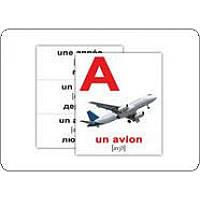 """Карточки мини русско-французские """"Алфавит/L'alphabet Francais"""" 20 карточек, 255519"""
