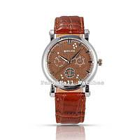 Часы Miler, коричневый ремешок, фото 1