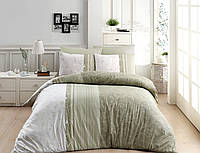 Комплект постельного белья Ранфорс First Choice Peitra Yesil Евро