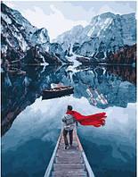 Картина по номерам Озеро Лаго ди Брайес. Сергей Сухов - 228995