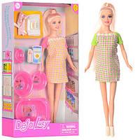 Кукла DEFA беременная, 29см, пупс, ванна, горшок, аксессуары, 2 вида, 8350