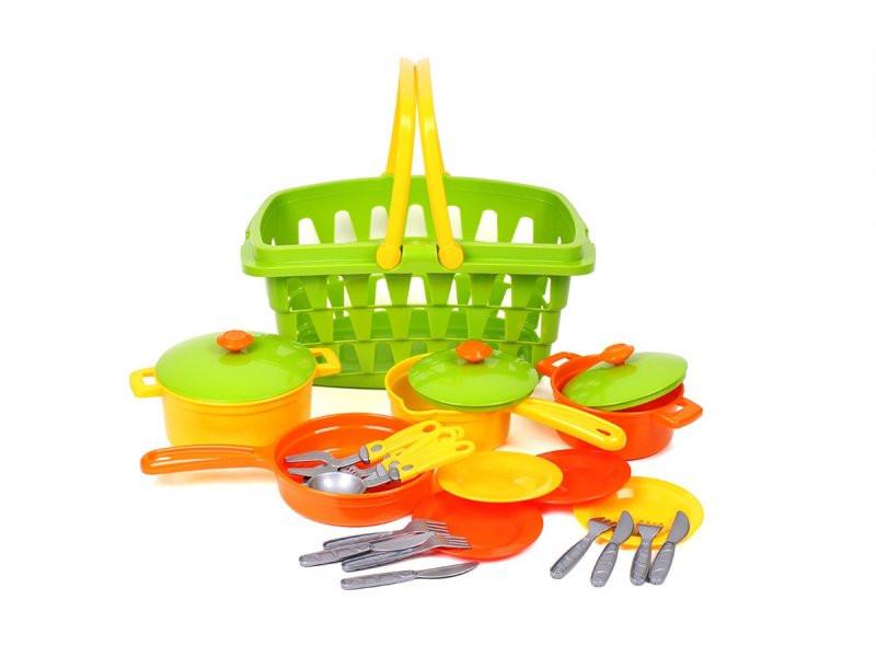 Посуда детская в корзинке ТехноК, 4456