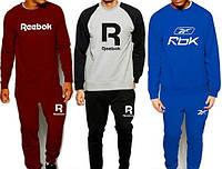 Спортивный костюм мужской бордовый/електрик/серый с черным Reebok Рибок
