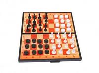 Игра настольная 3 в 1 (шашки, шахматы и нарды), 5196