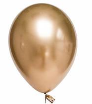 """Латексные воздушные шарики хром 7"""" золото 10шт/уп Qualatex"""