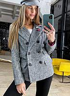 Сукня піджак з вовни на підкладі трендовий Pld207