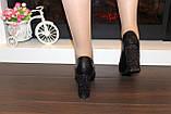 Туфли женские черные на каблуке Т014, фото 7