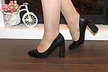 Туфли женские черные на каблуке Т014, фото 8