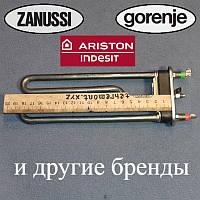 ТЕН 1800W / 190мм (є отвір / без бурту) для пральної машини Gorenje, Indesit і Ariston