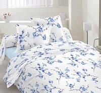 Комплект постельного белья Бязь Люкс Набор САКУРА (голубой) полутораспальный, евро, двуспальный